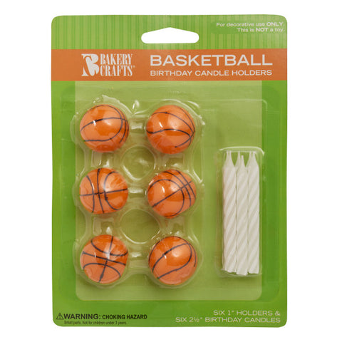 A Birthday Place - Cake Toppers - Basketball Candles