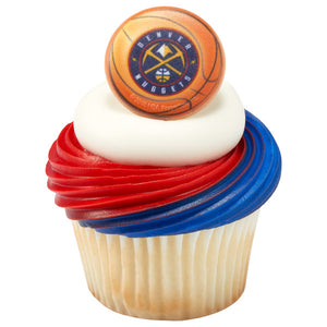 NBA Denver Nuggets Slam Dunk Cupcake Rings