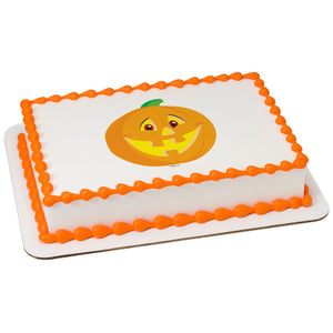 A Birthday Place - Cake Toppers - Smiling Pumpkin Edible Cake Topper Image