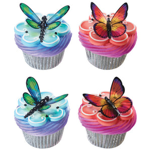 A Birthday Place - Cake Toppers - Dragonfly and Butterfly DecoPics®