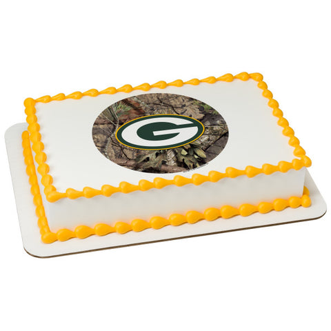 A Birthday Place - Cake Toppers - NFL Green Bay Packers Mossy Oak Edible Frosting Image