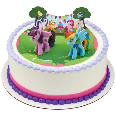 My Little Pony™ It's a Pony Party! Edible Cake Topper Image DecoSet® Background