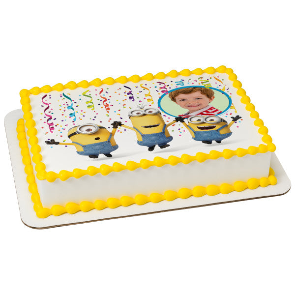 A Birthday Place - Cake Toppers - Despicable Me Party! Edible Cake Topper Frame
