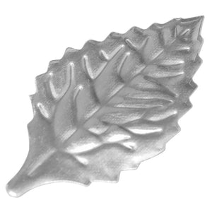 "Silver Rose Leaves 1.75"" Foil Leaves"