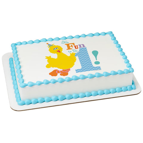A Birthday Place - Cake Toppers - Sesame Street It's Fun To Be 1! Edible Cake Topper Image