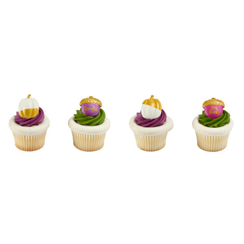Golden Harvest Cupcake Rings