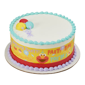 A Birthday Place - Cake Toppers - Sesame Street Party Time Edible Cake Topper Image