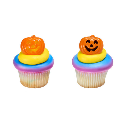 A Birthday Place - Cake Toppers - Stacked Pumpkin Cupcake Rings