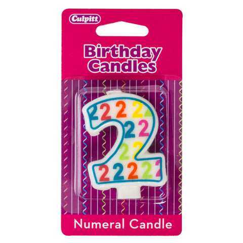 A Birthday Place - Cake Toppers - Number '2' Pattern Numeral Candles