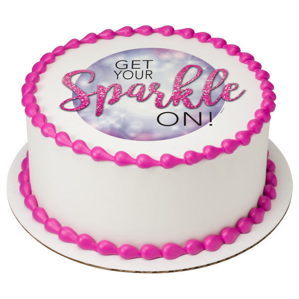 Get Your Sparkle On Edible Cake Topper Image A Birthday Place