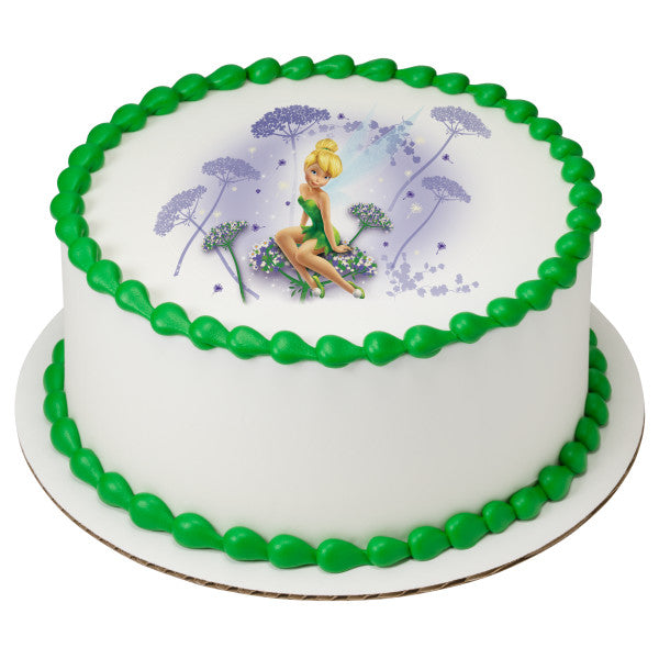 Tinker Bell I Believe in Fairies Edible Cake Topper Image