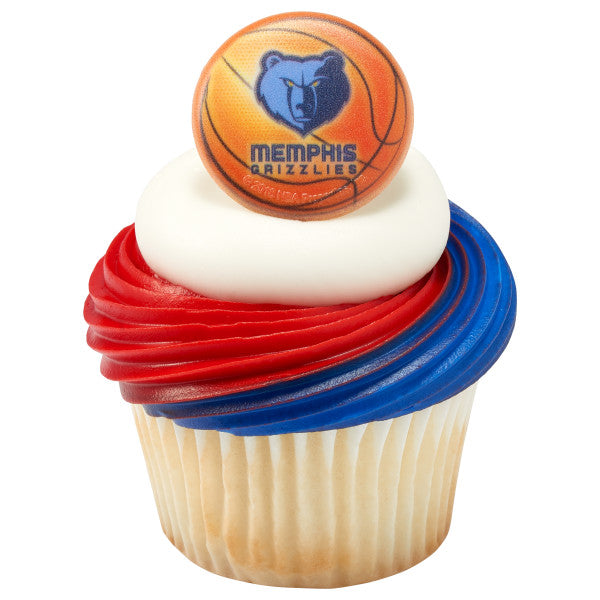 NBA Memphis Grizzlies Cupcake Rings