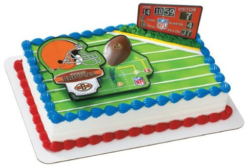NFL Cleveland Browns Chiefs Decoset Cake Topper