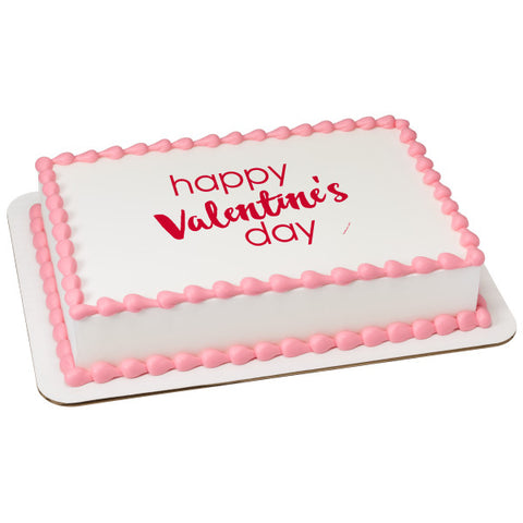 A Birthday Place - Cake Toppers - Valentine's Day Script Edible Cake Topper Image