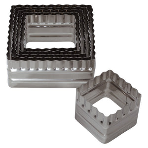 Double-Sided Square, 6 Piece Set Cutters/Molds