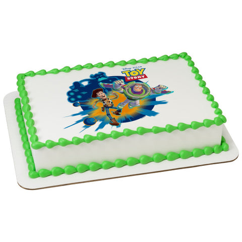 A Birthday Place - Cake Toppers - Toy Story Toys in Action Edible Cake Topper Image