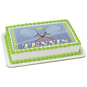 A Birthday Place - Cake Toppers - Tennis Edible Cake Topper Image