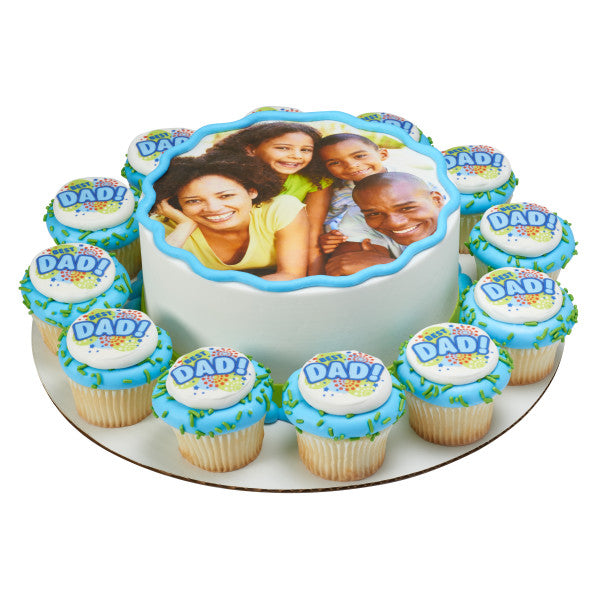 Best Dad Edible Cake Topper Image A Birthday Place