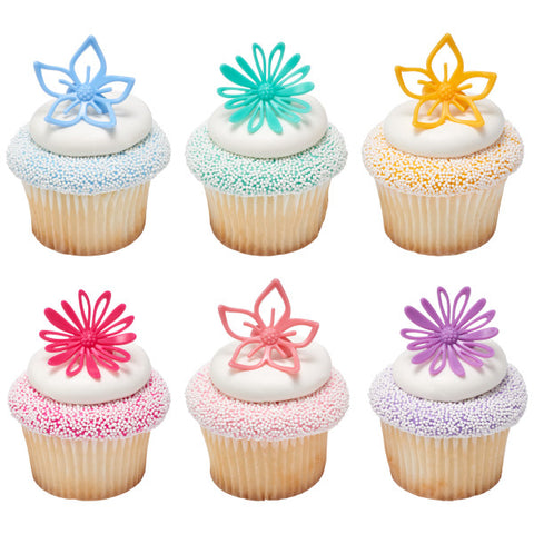 Flowers Assortment Cupcake Rings