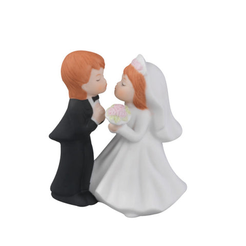 A Birthday Place - Cake Toppers - Standing Kissing Couple Wedding Ornament