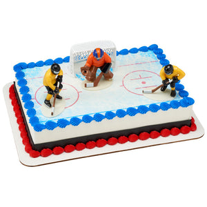 Hockey Face Off Edible Cake Topper DecoSet® Background