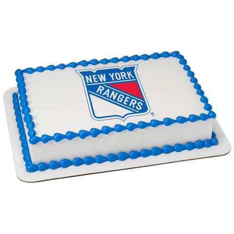 NHL® New York Rangers Team Edible Cake Topper Image