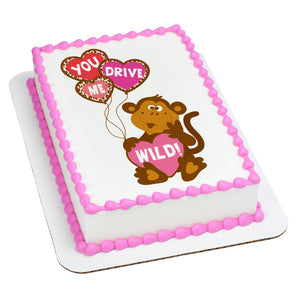 A Birthday Place - Cake Toppers - You Drive Me Wild Edible Cake Topper Image