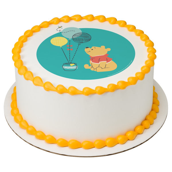 Disney Baby Winnie the Pooh 1st Birthday Edible Cake Topper Image