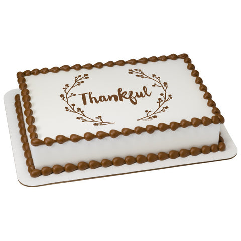 A Birthday Place - Cake Toppers - Thankful Edible Cake Topper Image