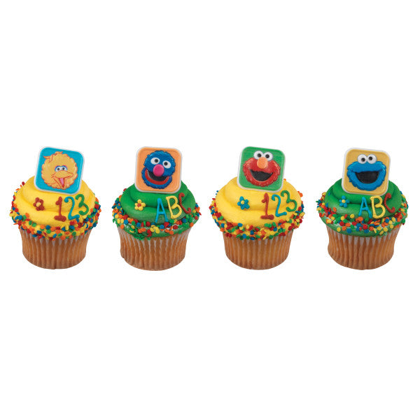 A Birthday Place - Cake Toppers - Sesame Street® Blocks Cupcake Rings