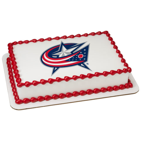 NHL® Columbus Blue Jackets Team Edible Cake Topper Image