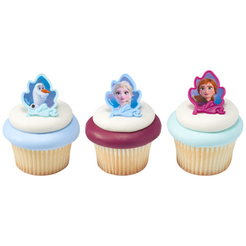 Disney Frozen II Elsa, Anna and Olaf Cupcake Rings