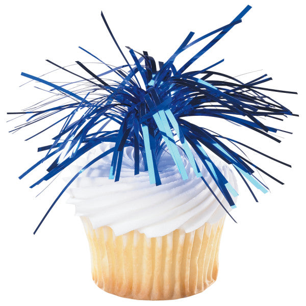 A Birthday Place - Cake Toppers - Blue Spray Mylar DecoPics®