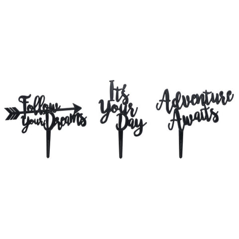 A Birthday Place - Cake Toppers - Adventure Assortment Layon