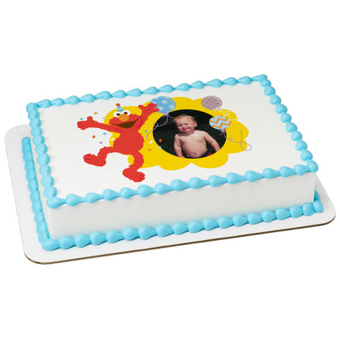 A Birthday Place - Cake Toppers - Sesame Street Hooray For You Edible Cake Topper Frame