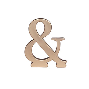 "A Birthday Place - Cake Toppers - ""And"" Monogram"