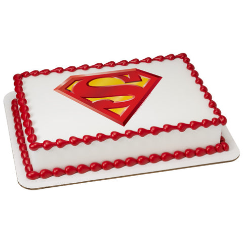 Superman Power Up Edible Cake Topper Image