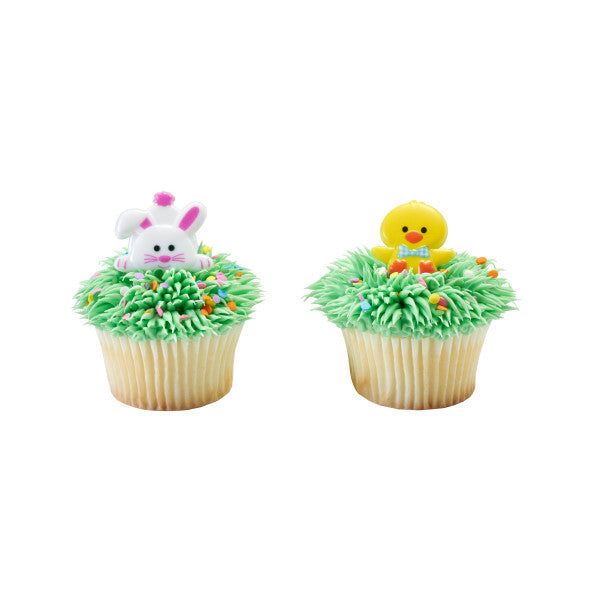 Duck and Bunny Cupcake Rings