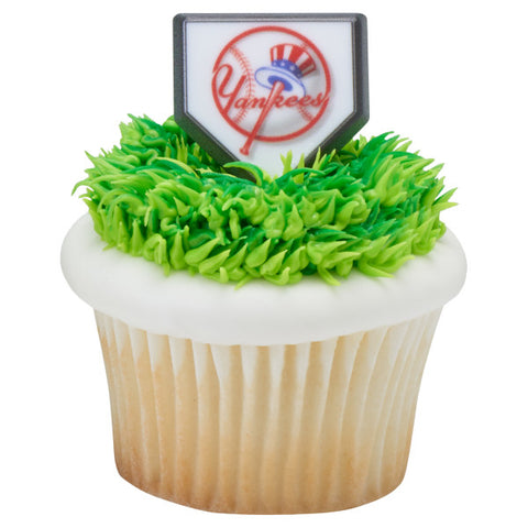 MLB® Home Plate Team Logo Cupcake Rings - New York Yankees (12 pieces)