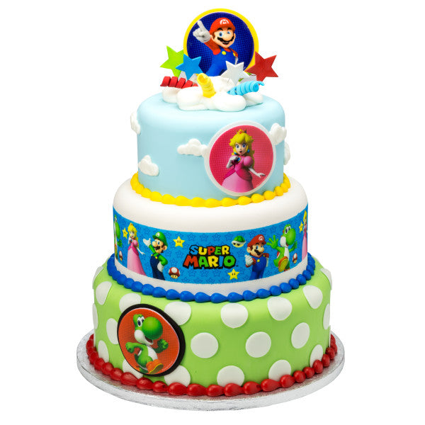 Super Mario™ Power Play Edible Cake Topper Image