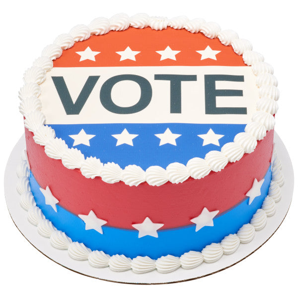 Vote Edible Cake Topper Image