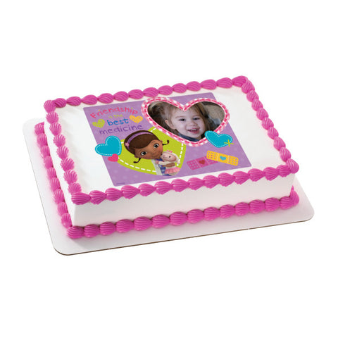 A Birthday Place - Cake Toppers - Doc McStuffins Friendship Edible Cake Topper Frame