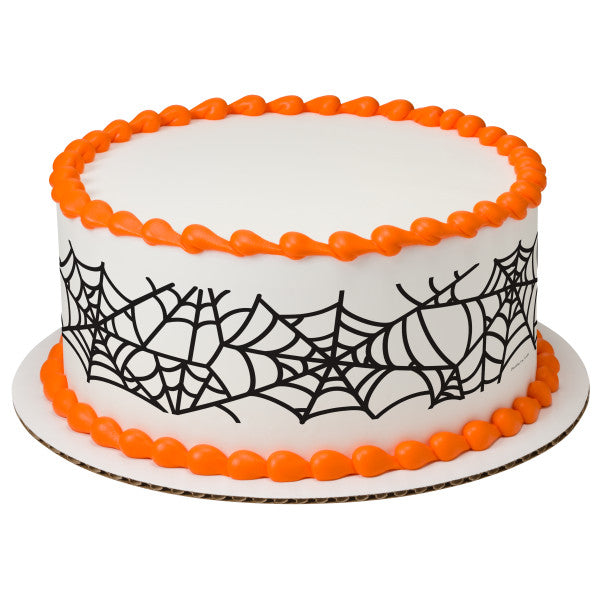 A Birthday Place - Cake Toppers - Spider Web Cake Edible Cake Topper Image