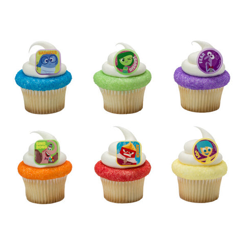 A Birthday Place - Cake Toppers - Inside Out Riley's Emotions Cupcake Rings