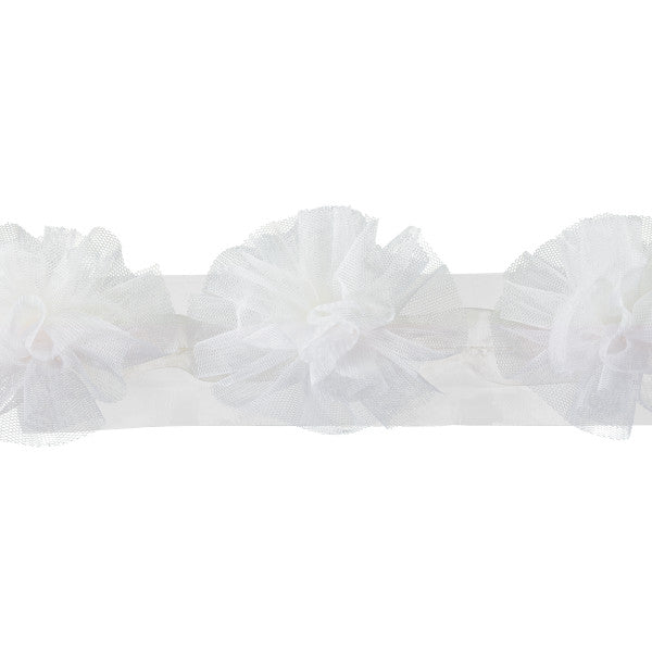 Cream Tulle Pom Pom Wrap Special Occasion Decoration