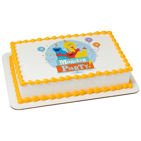 A Birthday Place - Cake Toppers - Sesame Street Monster Party! Edible Cake Topper Image