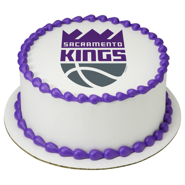 Magnificent Nba Sacramento Kings Team Edible Cake Topper Image A Birthday Place Personalised Birthday Cards Cominlily Jamesorg