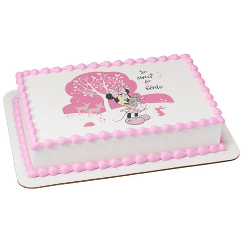 A Birthday Place - Cake Toppers - Minnie Too Sweet Edible Cake Topper Image