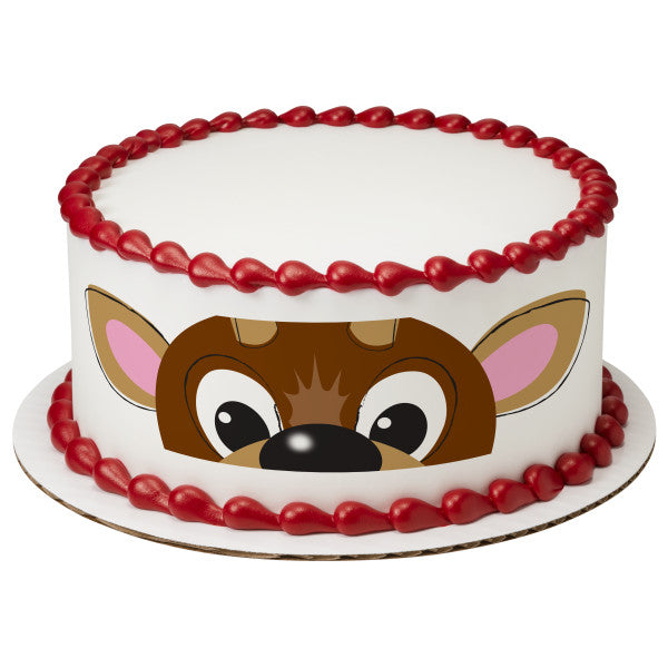 A Birthday Place - Cake Toppers - Reindeer Edible Cake Topper Image