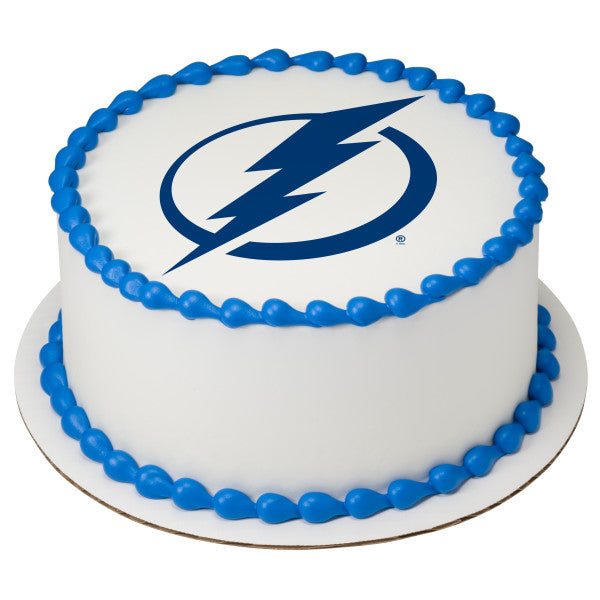 NHL® Tampa Bay Lightning Team Edible Cake Topper Image